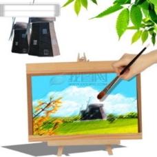海星 贝壳 沙滩 风景 树叶 PSD分层源文件 韩国花纹图库