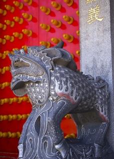 古代石狮门图片