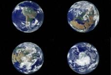 四个不同角度的地球(第二套)图片