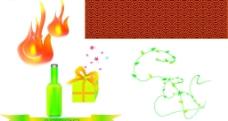 火瓶古典花纹礼盒花藤图片