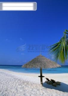 海上度假 海滩沙滩 休闲度假 天空蓝天白云 海边