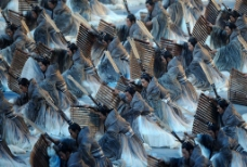 北京奥运会开幕式 竹简表演图片