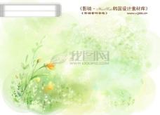 HanMaker韩国设计素材库 背景 底纹 花纹 风景 叶子 边框 水彩 淡彩