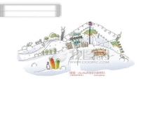 城市风景 卡通城市漫画手绘 HanMaker韩国设计素材库